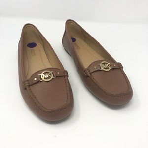 Michael Kors May Moccasin Leather Loafer Size 8.5